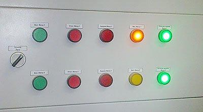 Индикация статуса положения автоматов