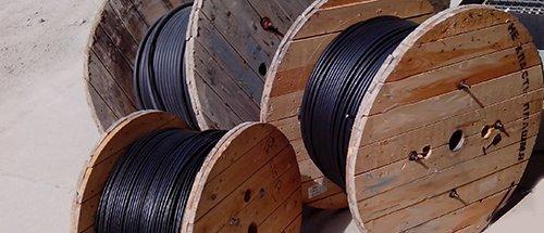 Масса кабелей и барабанов