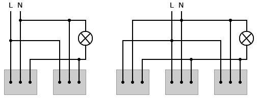 Схема подключения нескольких датчиков движения