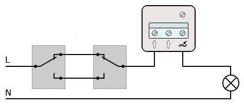 Диммер + проходные выключатели
