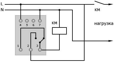 Подключение реле РН-113 через магнитный пускатель