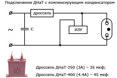 Компенсирующий конденсатор для подключения ДНаТ