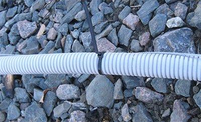 Крепление кабеля к тросу