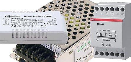 Понижающие трансформаторы напряжения на 12 В для освещения